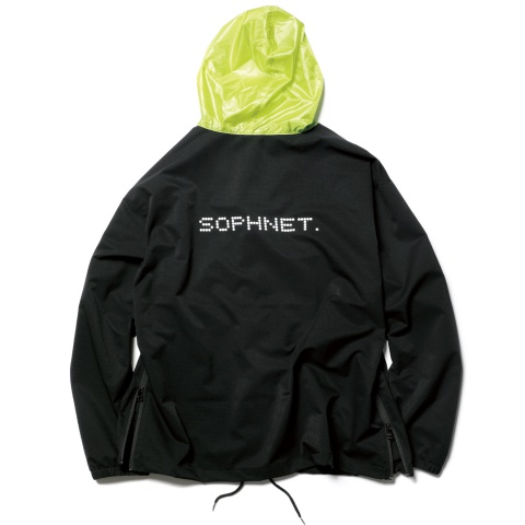 7c755622dbb17c SOPHNET. SIDE ZIP COLOR BLOCK ZIP UP HOODIE